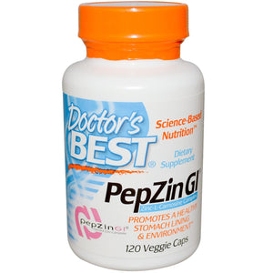 Doctor's Best PepZincGi 120 Capsules - Dietary Supplement