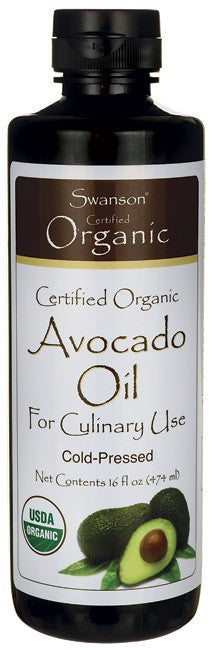 Swanson Organic Certified Organic Avocado Oil 473ml