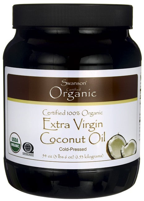 Swanson Certified 100% Organic Extra Virgin Coconut Oil 1.53kg