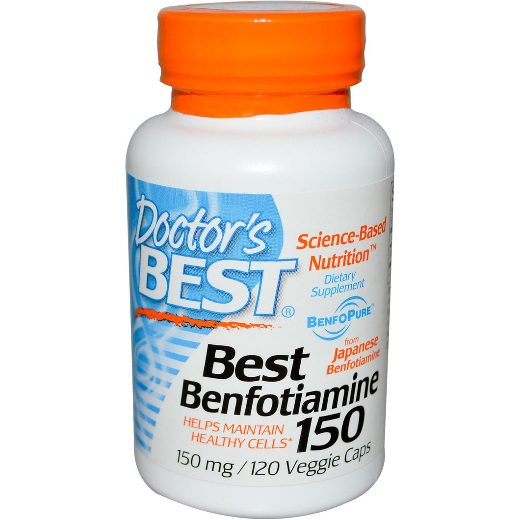 Doctor's  Best Benfotiamine 150mg 120 VCaps - Dietary Supplement