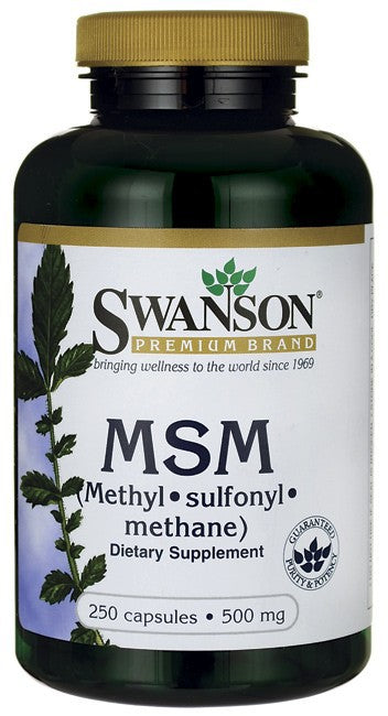 Swanson Premium MSM 500mg 250 Capsules - Dietary Supplement