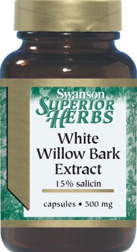 Swanson Superior Herbs  White Willow Bark Extract 500Mg 120C