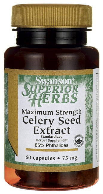 Swanson Superior Herbs Maximum Strength Celery Seed Extract 75mg 60 Capsules