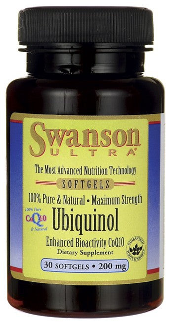 Swanson Ultra 100% Pure & Natural Ubiquinol 200mg 30 Softgels