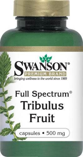 Swanson Premium Full-Spectrum Tribulus Fruit 500mg 90 Capsules