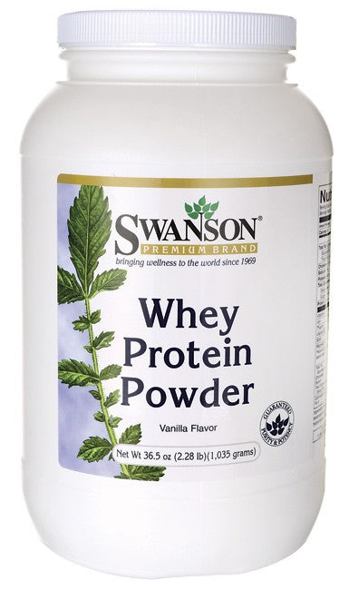 Swanson Whey Protein 36.5Oz (1035 Grams) - Protein Supplement