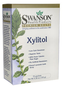 Swanson Premium Xylitol 75 Packets