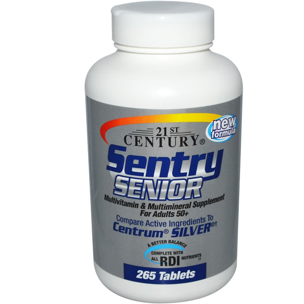 21st Century Health Care Sentry Senior MultiVitamin & Mineral Supplement 50+ 265 Tablets