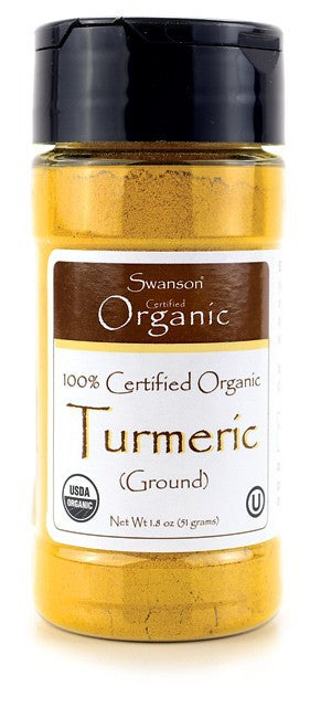 Swanson Organic 100% Certified Turmeric Ground 51g 1.8 oz