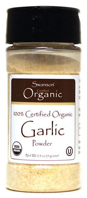 Swanson Organics 100% Certified Organic Garlic Powder 71gm 2.5 oz