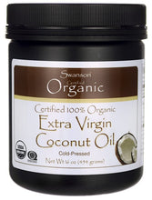 Load image into Gallery viewer, Swanson Certified 100% Organic Extra Virgin Coconut Oil 454gm