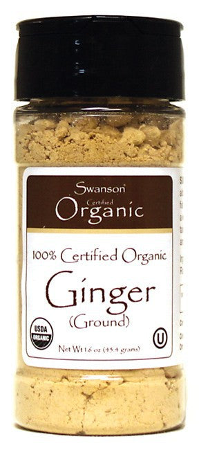 Swanson Organics 100% Certified Organic Ginger Ground  45.4g 1.6 oz