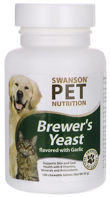 Swanson Pet Nutrition, Brewer's Yeast with Garlic 100 Chewables