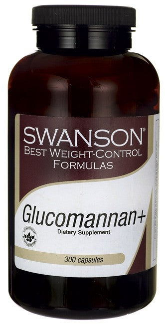 Swanson Best Weight-Control Formulas Glucomannan + 300 Capsules