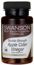 Load image into Gallery viewer, Swanson Best Weight-Control Formulas Double Strength Apple Cider Vinegar 200mg 120 Tablets