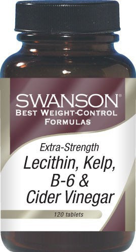 Swanson Best Weight-Control Formulas, Extra Strength Lecithin, Kelp, B-6 & Cider Vinegar 120 Tablets