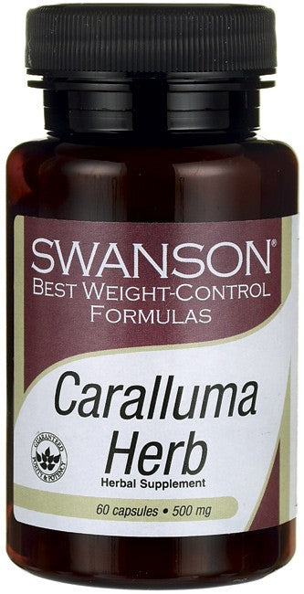 Swanson Best Weight-Control Formulas Caralluma Herb 500mg 60 Capsules
