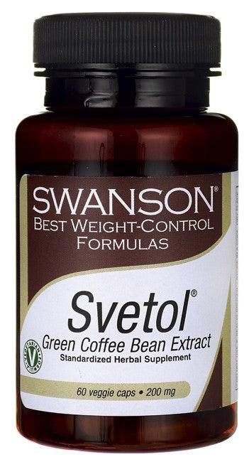 Swanson Best Weight-Control Formulas Svetol Green Coffee Bean Extract 200mg 60 Veg Capsules