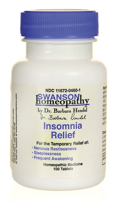 Swanson Homeopathy Insomnia Relief 100 Tablets