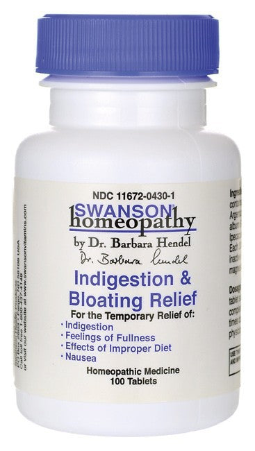 Swanson Homeopathy Indigestion/Bloating Relief 100 Tablets