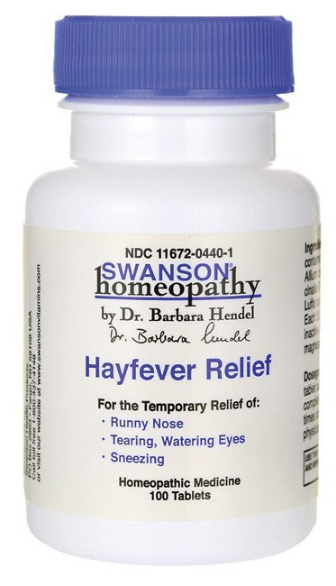 Swanson Homeopathy Hayfever Relief 100 Tablets