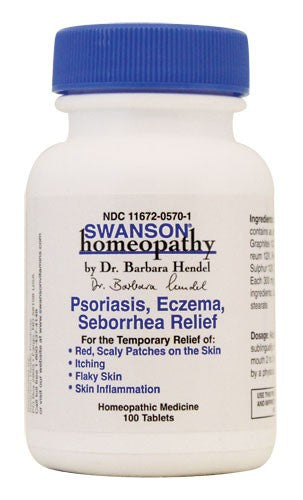 Swanson Homeopathy Psoriasis, Eczema, Seborrhea 100 Tablets