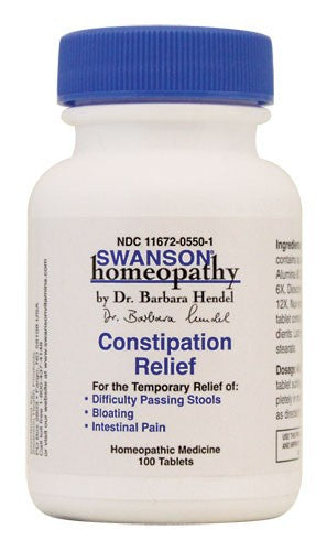 Swanson Homeopathy Constipation Relief 100 Tablets