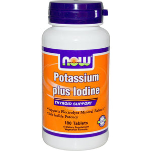 Now Foods Potassium Plus Iodine 180 Tablets - Dietary Supplement