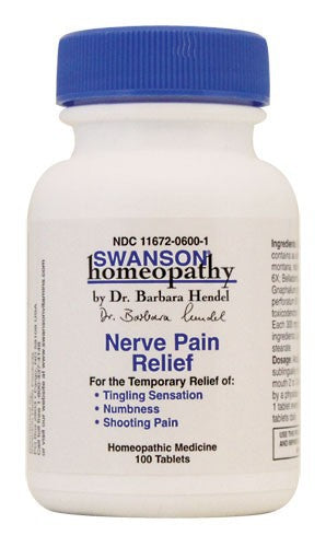 Swanson Homeopathy Nerve Pain Relief 100 Tablets