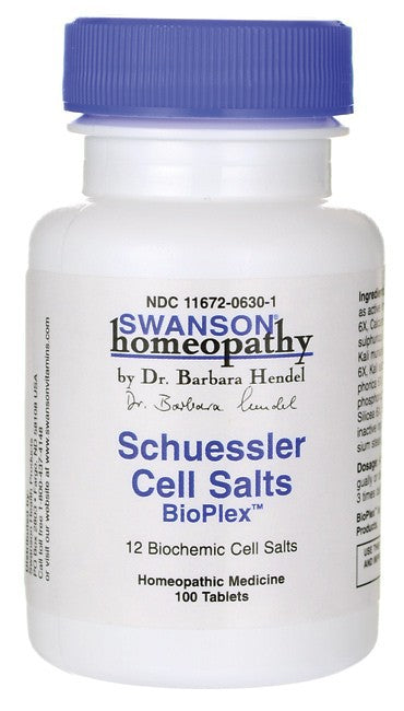 Swanson Homeopathy Schuessler Cell Salts 100 Tablets