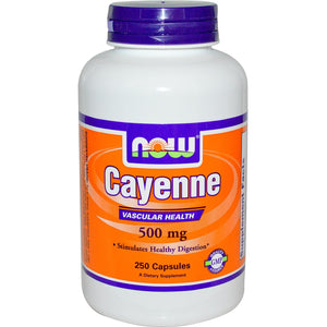 Now Foods, Cayenne, 500mg, 250 Capsules, 40,000 Heat Units