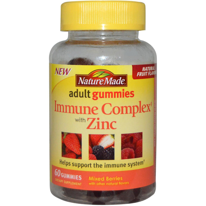 Nature Made, Adult Gummies, Immune Complex with Zinc, Mixed Berries, 60 Gummies