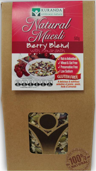 Kuranda, Natural Muesli, Berry Blend with Amaranth, 500 g