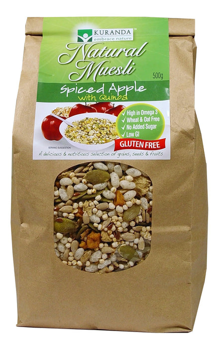 Kuranda, Natural Muesli, Spiced Apple with Quinoa, 500 g