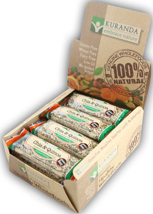Kuranda, Natural Health Bars, Chia & Quinoa, 40 g X 16 Bars