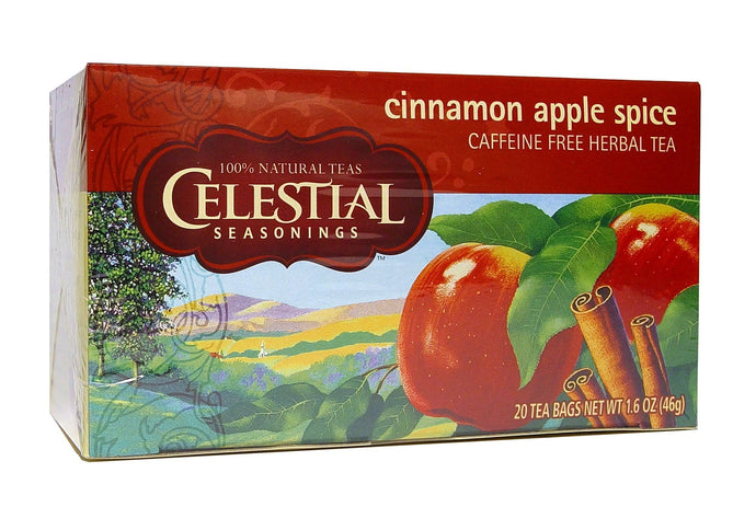Celestial Seasonings, Tea, Cinamon Apple Spice, Caffeine Free, 20 Tea Bags, 46 g