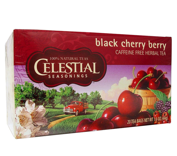 Celestial Seasonings Tea Black Cherry Berry Caffeine Free 20 Tea Bags 44g