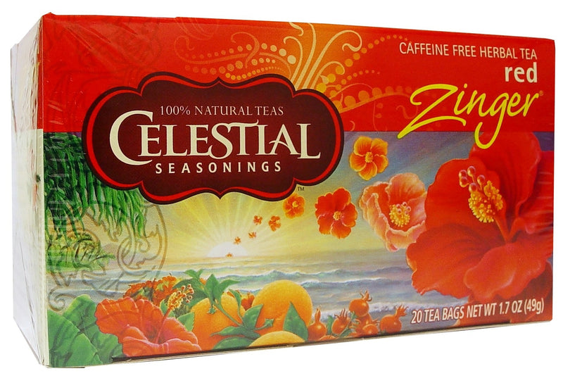 Celestial Seasonings Tea Red Zinger Caffeine Free 20 Tea Bags 49g