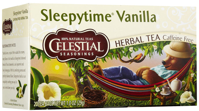 Celestial Seasonings, Tea, Sleepytime Vanilla, Caffeine Free, 20 Tea Bags, 29 g