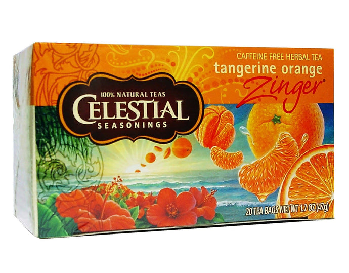 Celestial Seasonings, Tea, Tangerine Orange Zinger, Caffeine Free, 20 Tea Bags, 47 g