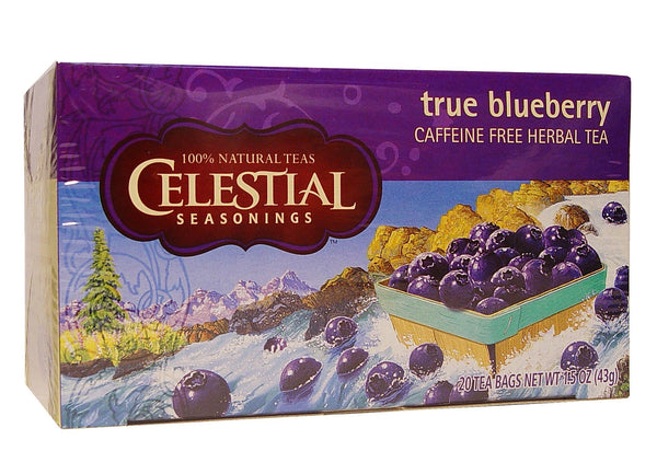 Celestial Seasonings Tea True Blueberry Caffeine Free 20 Tea Bags 43 g