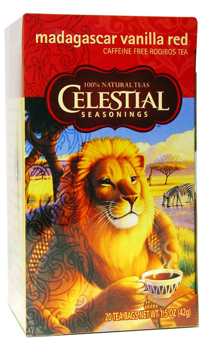 Celestial Seasonings, Tea, Madagascar Vanilla Red, Caffeine Free, 20 Tea Bags, 42 g