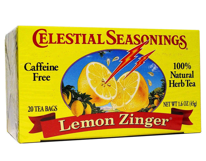 Celestial Seasonings Tea Lemon Zinger Caffeine Free 20 Tea Bags 45g