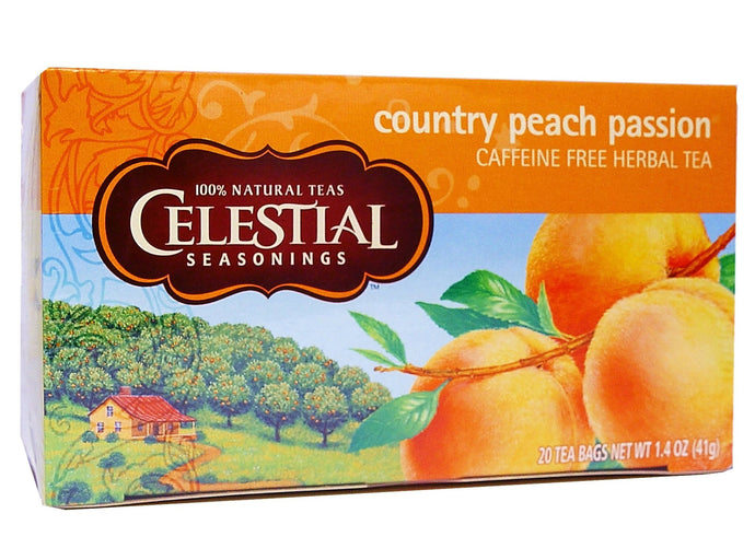 Celestial Seasonings Tea Country Peach Passion 20 Tea Bags 41g