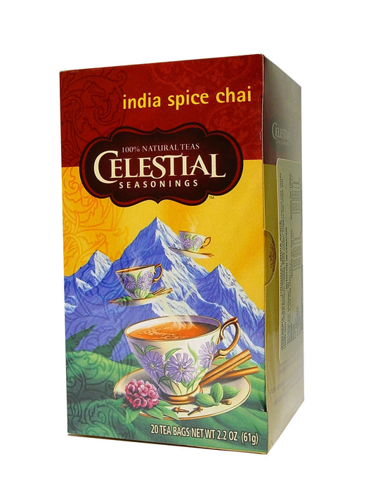 Celestial Seasonings, Tea, Indian Spice Chai, Caffeine Free, 20 Tea Bags, 61 g