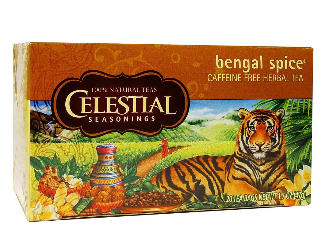 Celestial Seasonings Tea Bengal Spice Caffeine Free 20 Tea Bags 47g