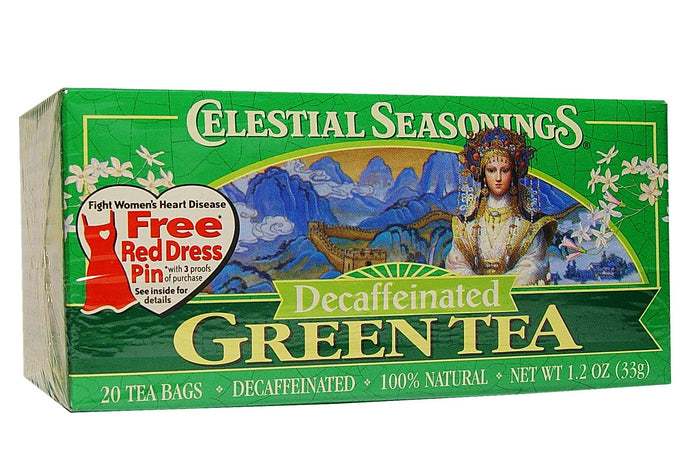 Celestial Seasonings, Green Tea, Decaffeinated, 20 Tea Bags, 33 g