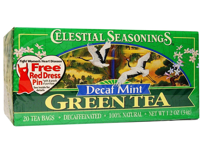Celestial Seasonings, Green Tea, Decaf Mint, 20 Tea Bags, 34 g