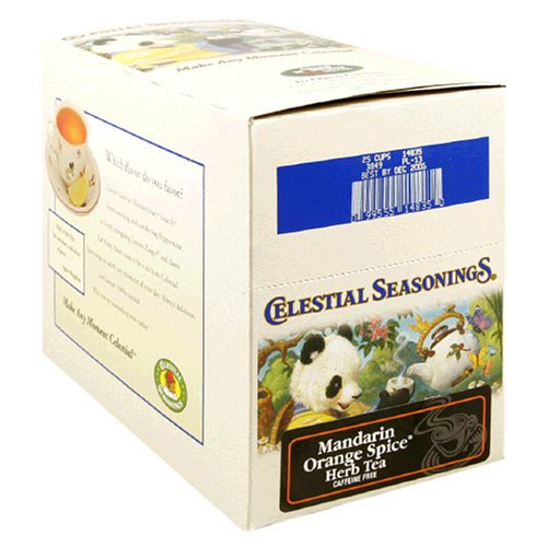 Celestial Seasonings, Tea, Mandarin Orange Spice, Caffeine Free, 20 Tea Bags