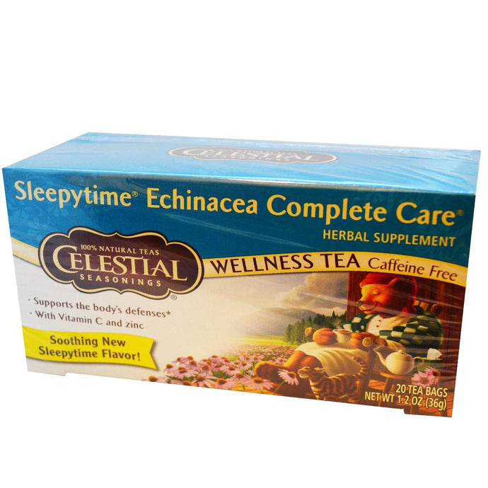 Celestial Seasonings, Wellness Tea, Sleepytime Echinacea Complete Tea, Caffeine Free, 20 Tea Bags, 36 g